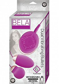 Bela Silicone Dual Vibrating Bullets Waterproof Pink (86959.2)